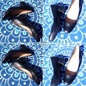 Naturalizer chunky heel black